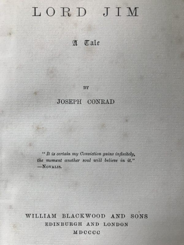 Joseph Conrad lord jim first edition3
