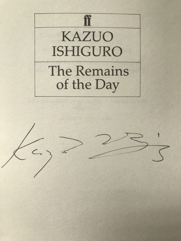 Kazuo Ishiguro The Remains Of The Day Signed First Edition3 1