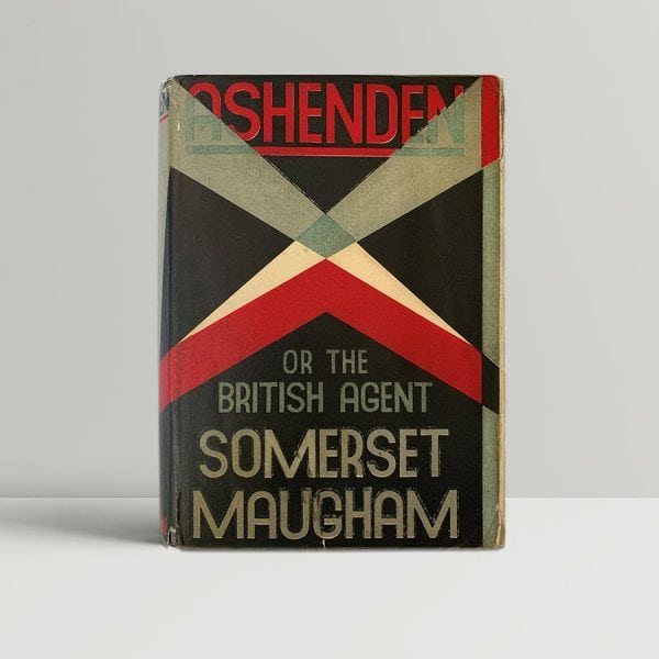 Somerset Maugham Ashenden FIrst Edition Signed