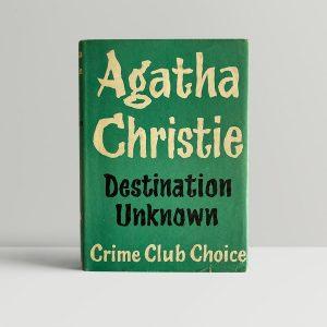 agatha christie destination unknown first edition1 1