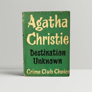 agatha christie destination unknown first edition1