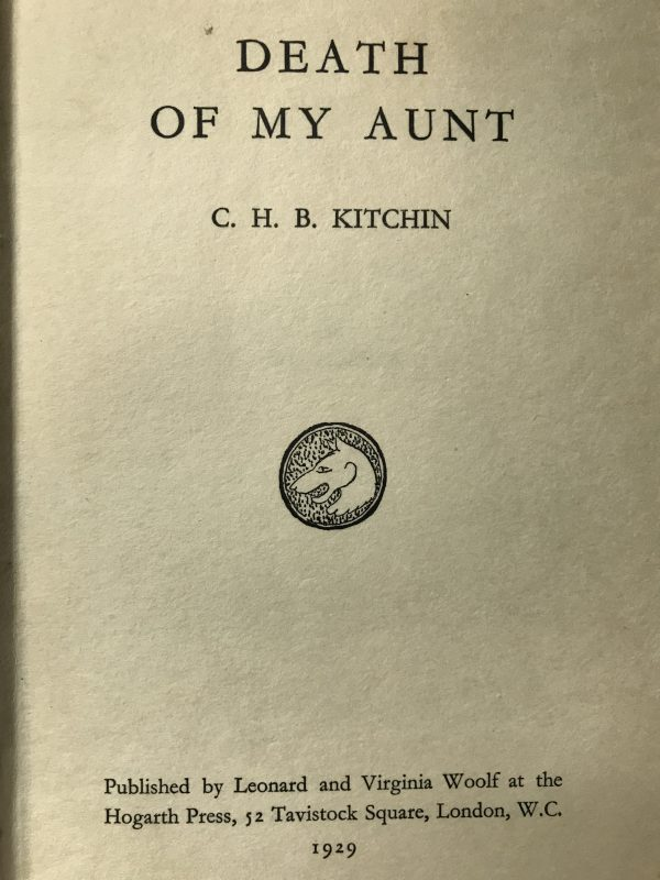 chb kitchin death of an aunt first edition2