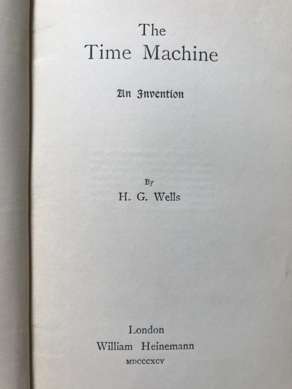 hg wells the time machine first edition2