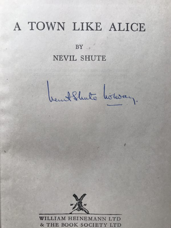 nevil shute a town like alice signed editon2