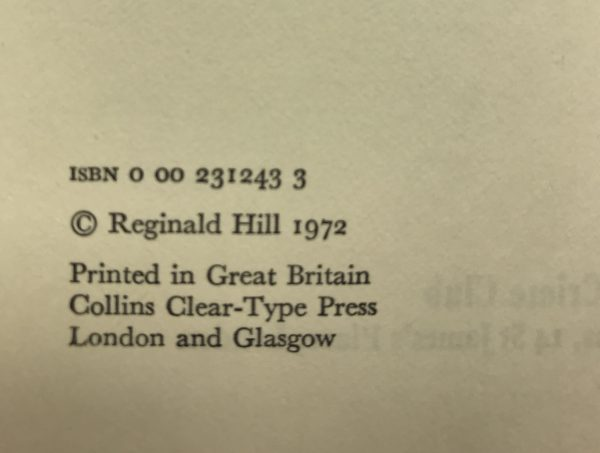 reginald hill a fairly dangerous thing signed first edition3