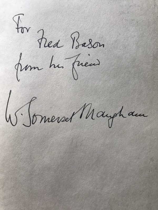 w somerset maugham ah king signed first edition2