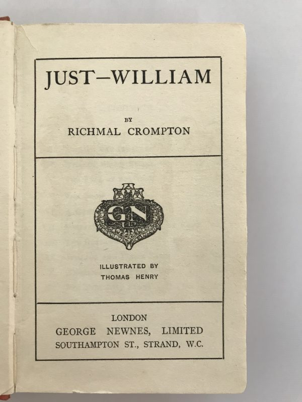 Richmal Crompton Just William First Edition3