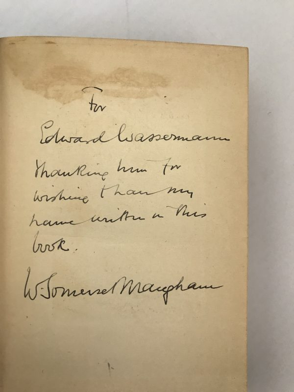 W Somerset Maugham The Casuarina Tree Signed And Inscribed First Edition2