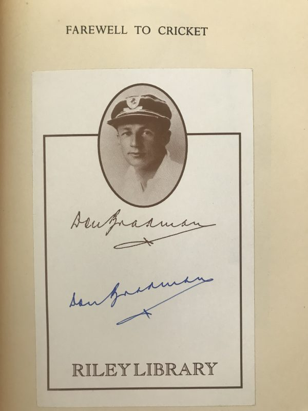 don bradman farewell to cricket signed first edition2 1