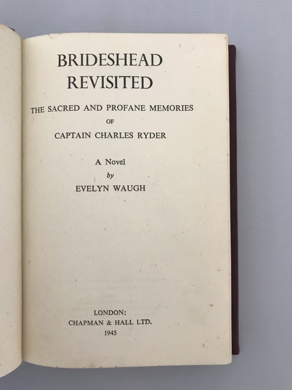 evelyn waugh brideshead revisited rebound first edition2