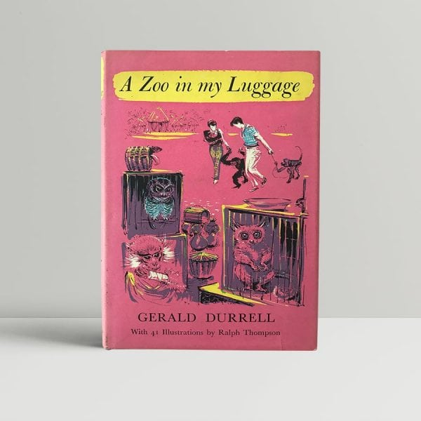 gerald durrell a zoo in my luggage with signed letter1