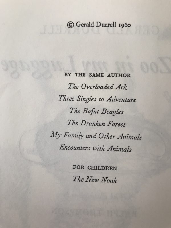 gerald durrell a zoo in my luggage with signed letter2
