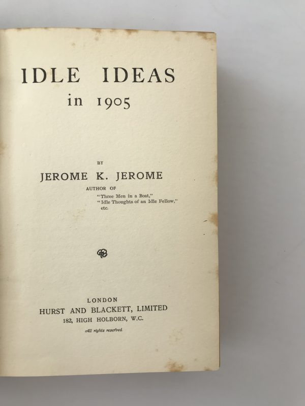 jerome k jerome ideal ideas in 1905 first edition2