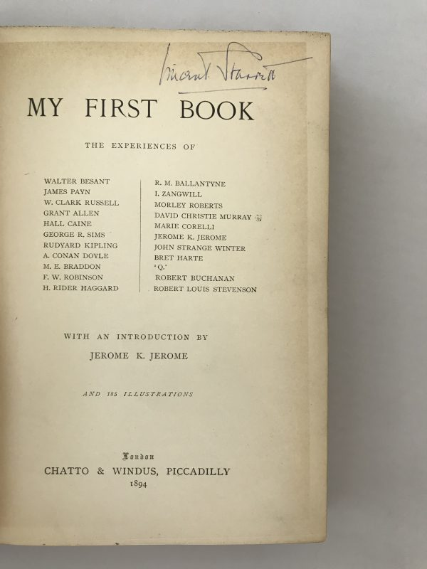 jerome k jerome my first book first edition2