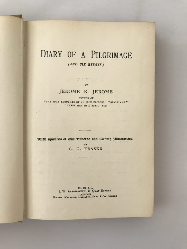 jerome k jerome the diary of a pilgrimage first edition2