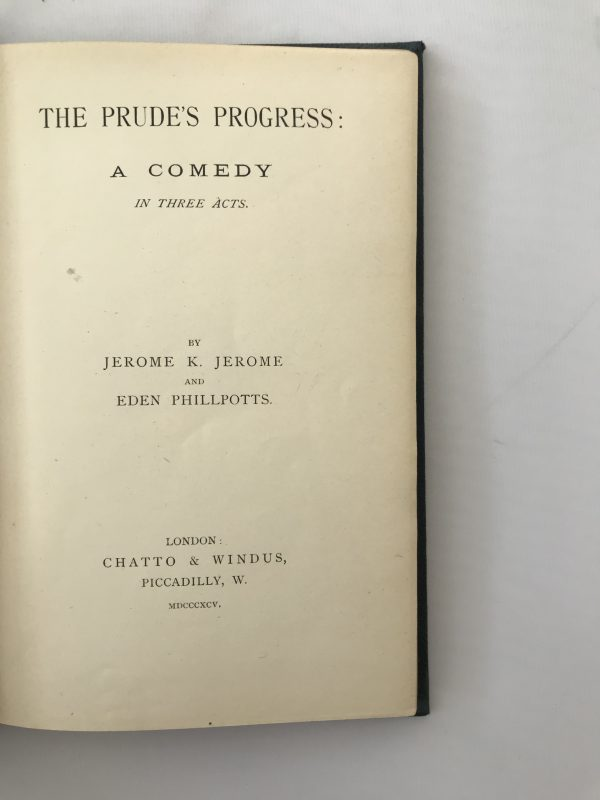 jerome k jerome the prudes progress first edition2