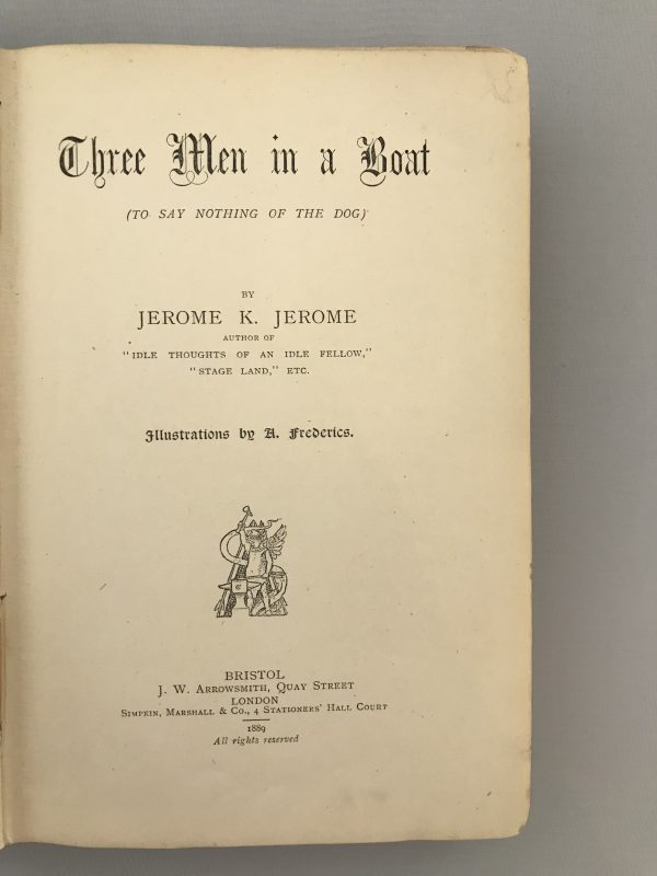jerome k jerome three men in a boat on the bummel first editions3