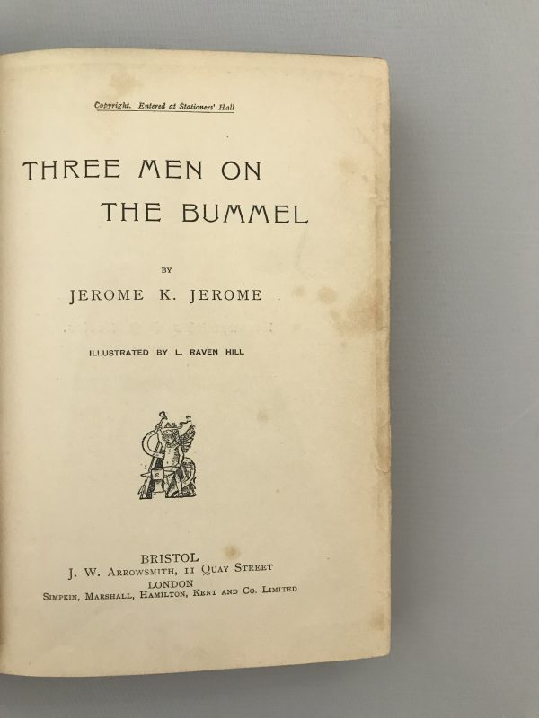 jerome k jerome three men in a boat on the bummel first editions5