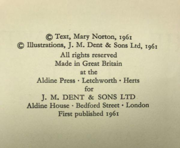 mary norton the borrowers aloft first edition2 1