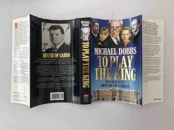 michael dobbs to play the king signed first edition5