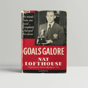 nat lofthouse goals galore signed first edition1