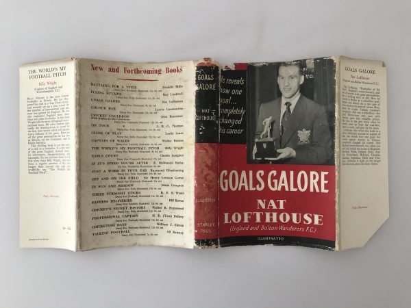 nat lofthouse goals galore signed first edition5