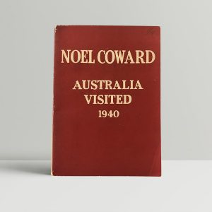 noel coward australia visited first edition1