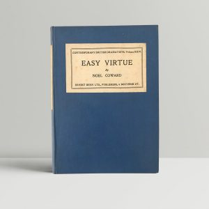 noel coward easy virtue first edition1