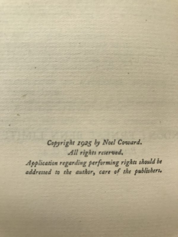 noel coward hay fever signed first edition3