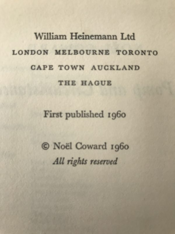 noel coward pomp and circumstance first edition3
