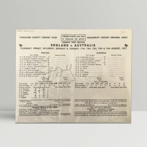 signed cricket scorecard