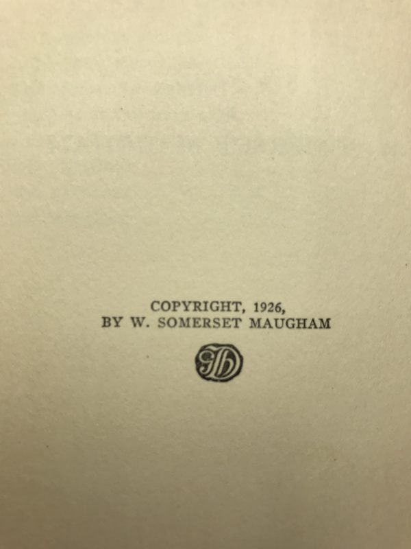 w somerset maugham casuarina tree first edition2