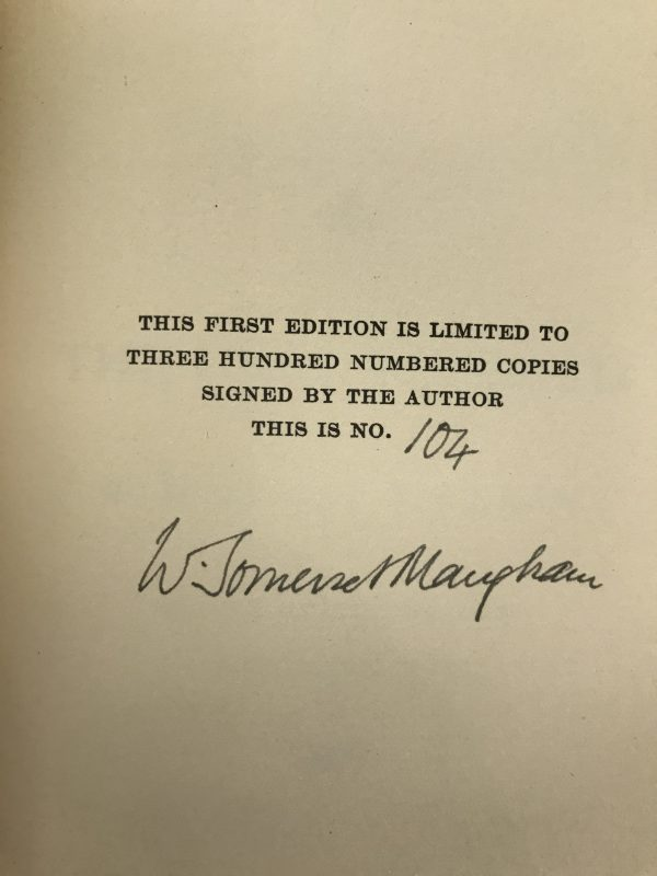 w somerset maugham the unconquered signed limited edition2