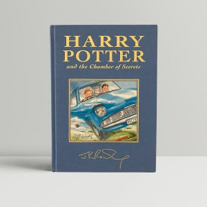 jk rowling harry potter and the chambers of secrets signed by the artist1