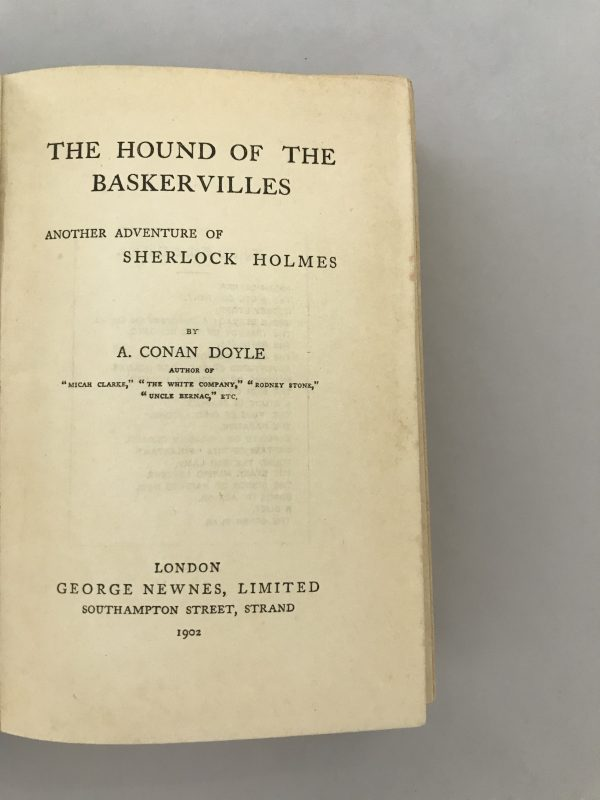 arthur conan doyle the hound of the baskervilles first edition2