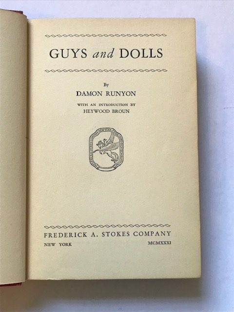 damon runyan guys and dolls us first edition4