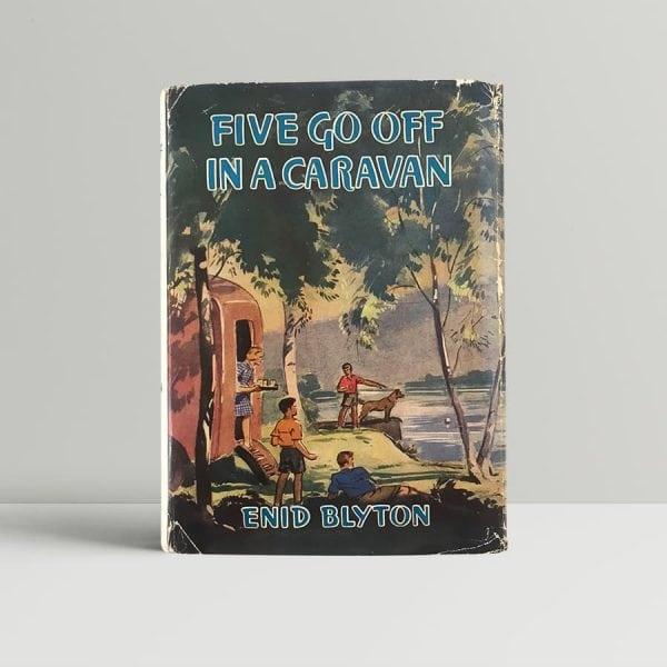 enid blyton five go off in a caravan first edition1