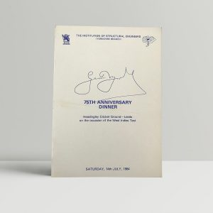 geoff boycott dinner menu signed1
