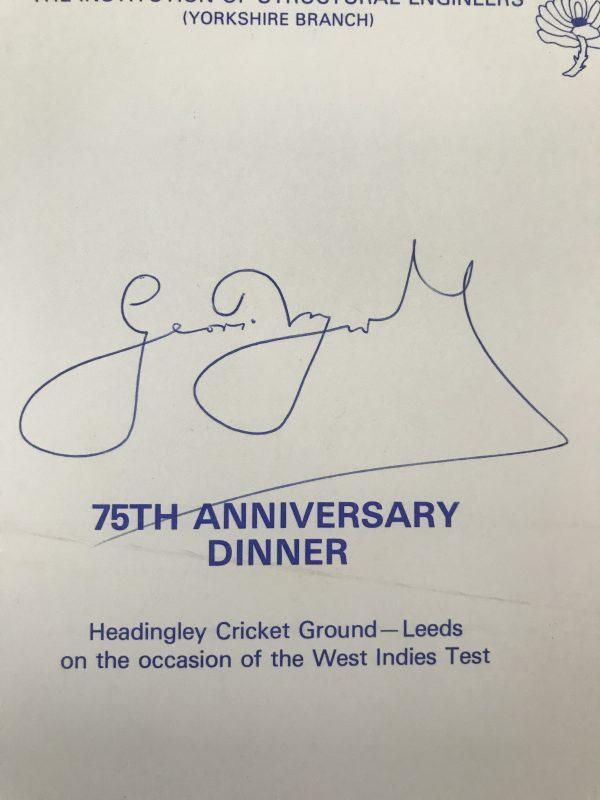 geoff boycott dinner menu signed2