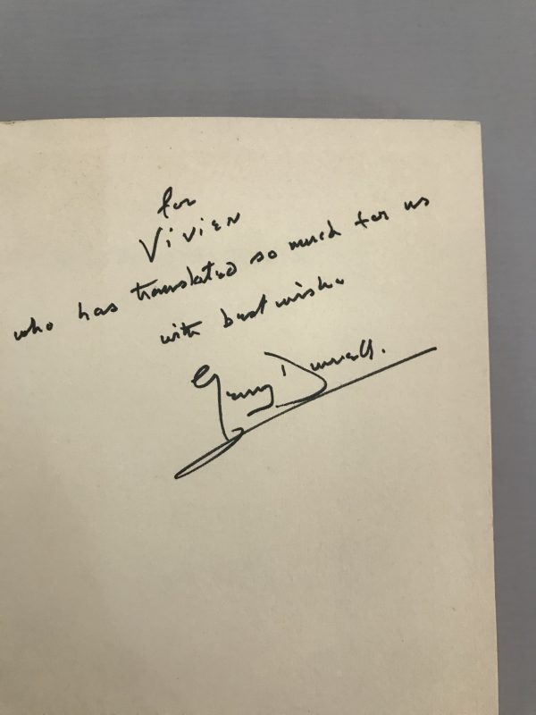 gerald durrell birds beasts and relatives signed first edition2