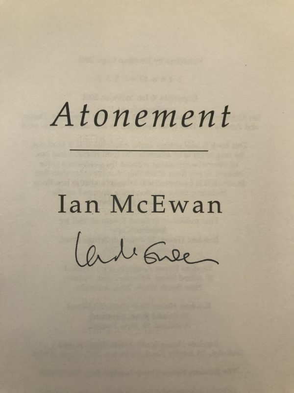 ian mcewan atonement signed first edition2