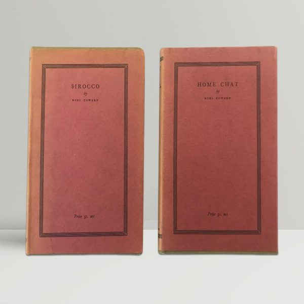 noel coward sirocco and home chat first editions1