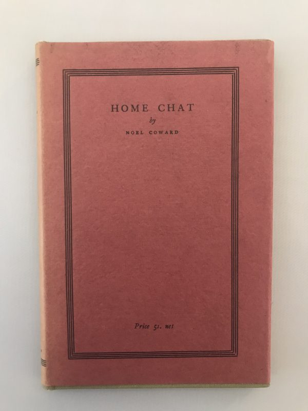 noel coward sirocco and home chat first editions3