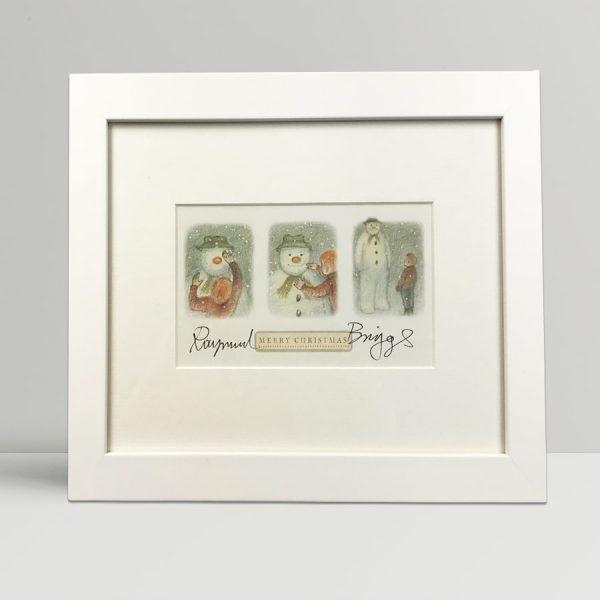 raymond briggs the snowman christmas card signed1