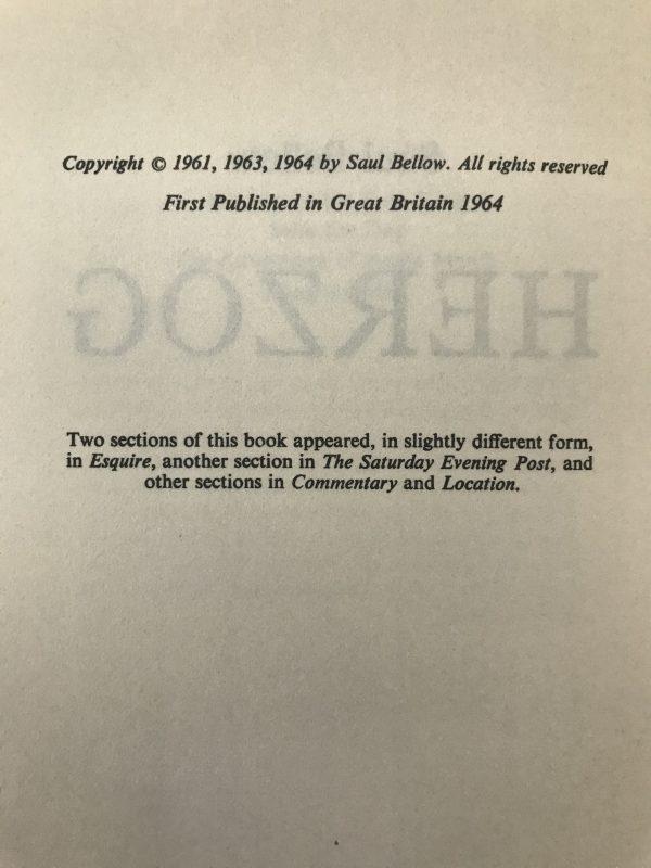 saul bellow herzog first edition2