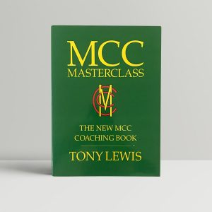 tony lewis mcc masterclass signed first edition1