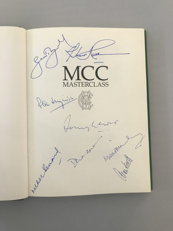 tony lewis mcc masterclass signed first edition2