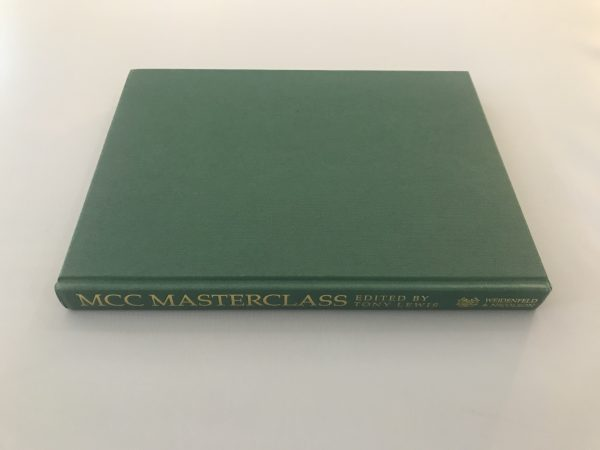 tony lewis mcc masterclass signed first edition4