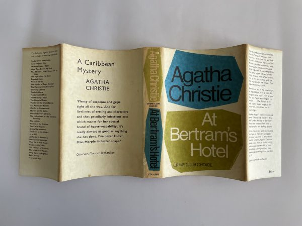 agatha christie at bertrams hotel first ed4