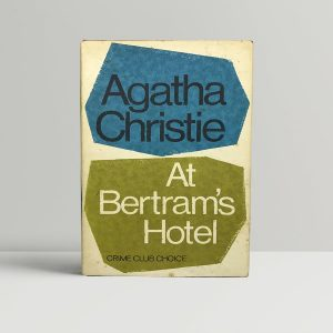 agatha christie at bertrams hotel first edition1
